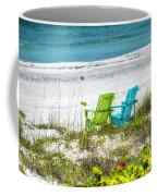 Green And Blue Chairs Coffee Mug