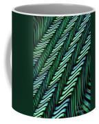 Green And Blue Folds Coffee Mug