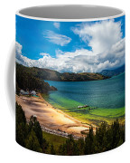 Green And Blue Lake Coffee Mug