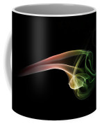 Green And Red Smoke Abstract Coffee Mug