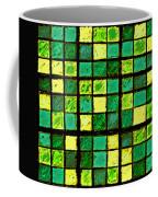 Green And Yellow Sudoku Coffee Mug