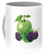 Green Apple With Blackberries Coffee Mug