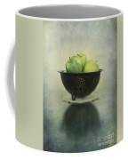 Green Apples In An Old Enamel Colander Coffee Mug