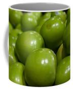 Green Apples On Display At Farmers Market Coffee Mug