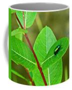 Green Beetle Foraging Coffee Mug