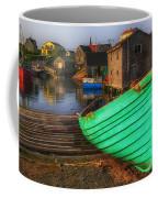 Green Boat Peggys Cove Coffee Mug