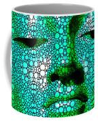 Green Buddha - Stone Rock'd Art By Sharon Cummings Coffee Mug