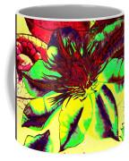 Green Clematis Flower Coffee Mug