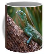 Green Crested Basilisk Coffee Mug