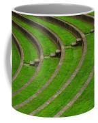 Green Curves And Steps Coffee Mug
