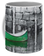 Green Dinghy Floating Coffee Mug