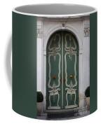 Green Door In Gdansk Coffee Mug