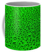 Green Drops On Water-repellent Surface Coffee Mug