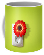 Green Electricity Coffee Mug by Carlos Caetano