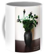 Green Energy Floral Arrangement Of Electrical Plugs Coffee Mug by Amy Cicconi
