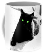 Green Eyed Kitty Coffee Mug
