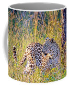 Green Eyed Leopard Coffee Mug
