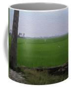 Green Fields With Birds In Kerala Coffee Mug