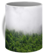 Green Forest With Clouds Coffee Mug