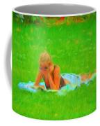 Green Grass Girl Coffee Mug