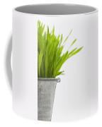 Green Grass In A Pot Coffee Mug