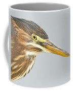 Green Heron Close-up Coffee Mug