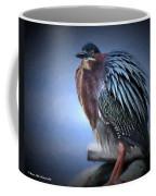 Green Heron Vignetted  Coffee Mug