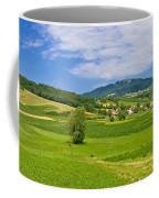 Green Hills Nature Panoramic View Coffee Mug
