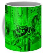 Green Horse Coffee Mug