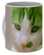 Green Kitten Coffee Mug