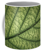 Green Leaf Texture Coffee Mug