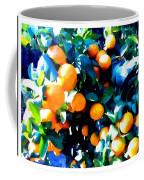 Green Leaves And Mature Oranges On The Tree Coffee Mug