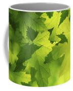 Green Maple Leaves Coffee Mug by Elena Elisseeva