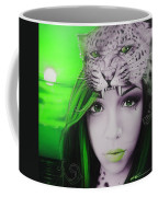 Green Moon Coffee Mug