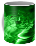 Green Multi Colored Water Drop Bubbling Coffee Mug