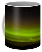 Green Northern Lights And Myriad Of Stars Coffee Mug