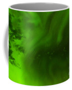 Green Northern Lights Night Sky Abstract Backdrop Coffee Mug