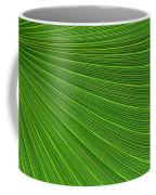 Green Palm Abstract Coffee Mug