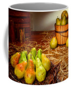 Green Pears In Rustic Basket Coffee Mug by Olivier Le Queinec