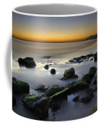 Green Rocks At Sunset Coffee Mug