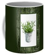 Green Rosemary Herb In Small Pot Coffee Mug