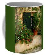 Green Shuttered Window Coffee Mug by Lainie Wrightson