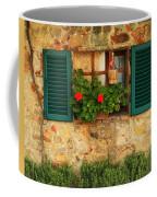 Green Shutters And Window In Chianti Coffee Mug