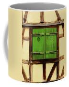 Green Shutters In Colmar France Coffee Mug