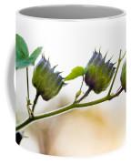 Green Spiky Wild Flowers Coffee Mug