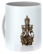 Green Tara Goddess Statue Coffee Mug