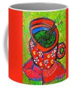 Green Tea In Red Cup Coffee Mug