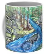 Green Trees With Rocks And River Coffee Mug