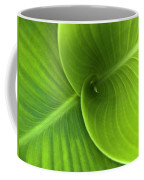 Green Twin Leaves Coffee Mug