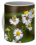 Green Wasp And Daisies Coffee Mug
